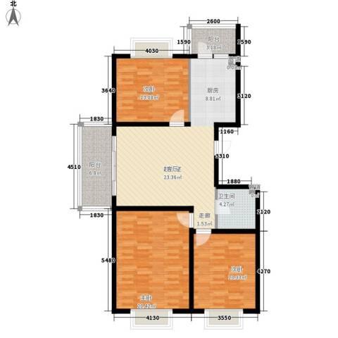红旗MALL3室0厅1卫0厨93.24㎡户型图