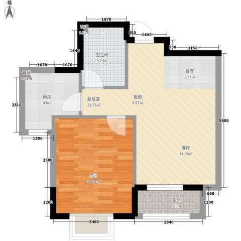融城时代1室0厅1卫1厨65.00㎡户型图