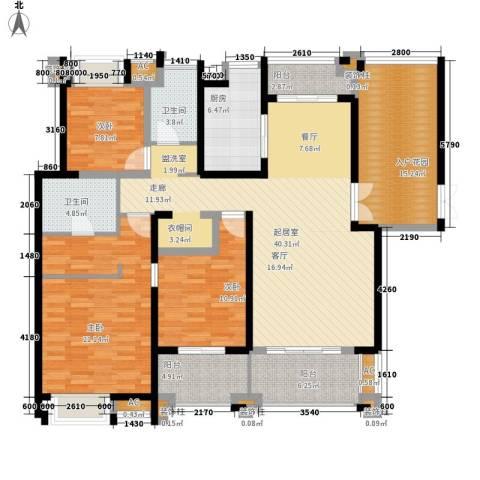 融侨锦江3室0厅2卫1厨157.00㎡户型图