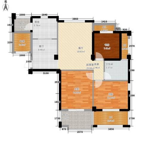 中茵名都3室0厅1卫1厨108.00㎡户型图