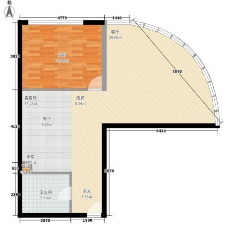 曲江皇家花园1室1厅1卫0厨104.00㎡户型图