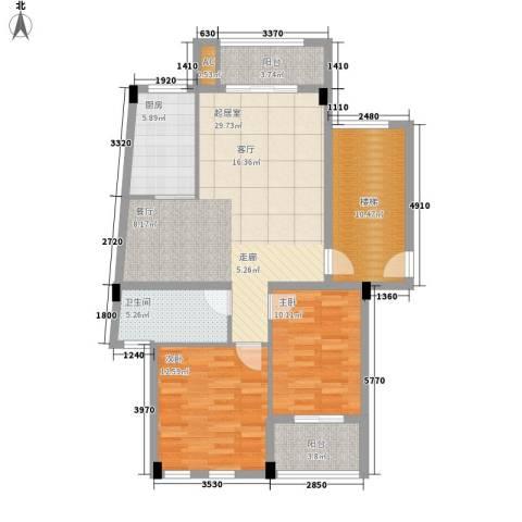尊德天城2室0厅1卫1厨89.00㎡户型图