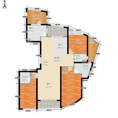 保利达江湾城3室1厅3卫1厨194.00㎡户型图
