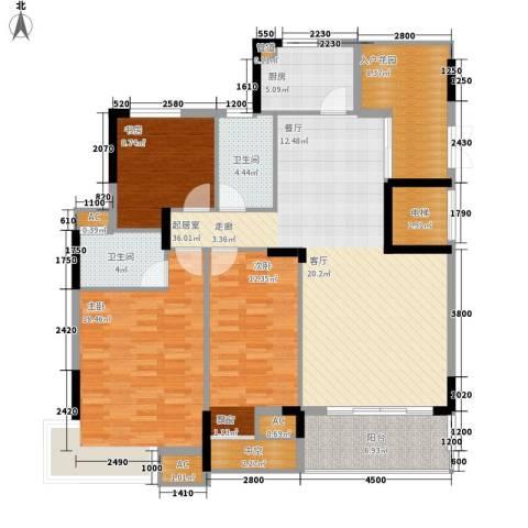 盛世华章3室0厅2卫1厨128.00㎡户型图