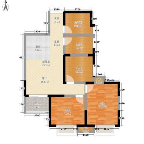 逸景�居3室0厅1卫1厨93.00㎡户型图
