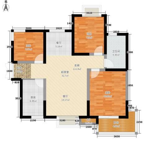 逸景�居3室0厅1卫1厨112.00㎡户型图