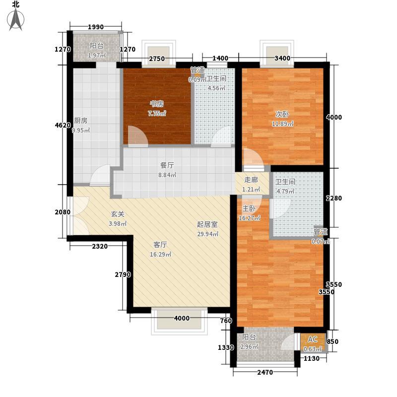 东恒时代二期TIMES3#-2-03和3#-1-02户型3室2厅2卫1厨