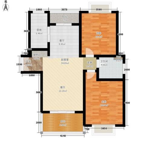 鼎隆公寓(杨浦)2室0厅1卫1厨96.00㎡户型图