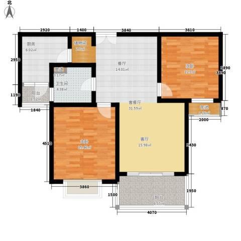 鼎隆公寓(杨浦)2室1厅1卫1厨90.00㎡户型图