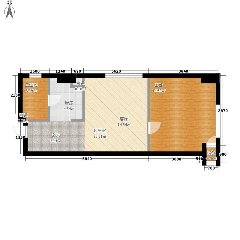 新玛特广场户型图1室1厅1卫