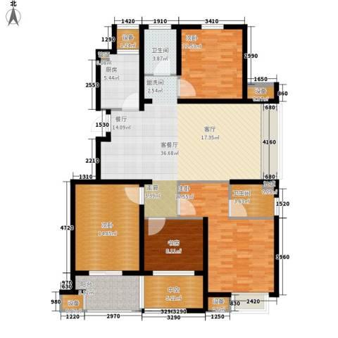明月湾4室1厅2卫1厨133.00㎡户型图