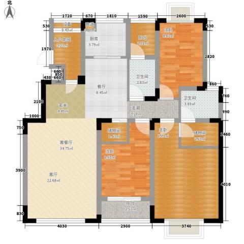 中兴渝景苑3室1厅2卫1厨106.00㎡户型图