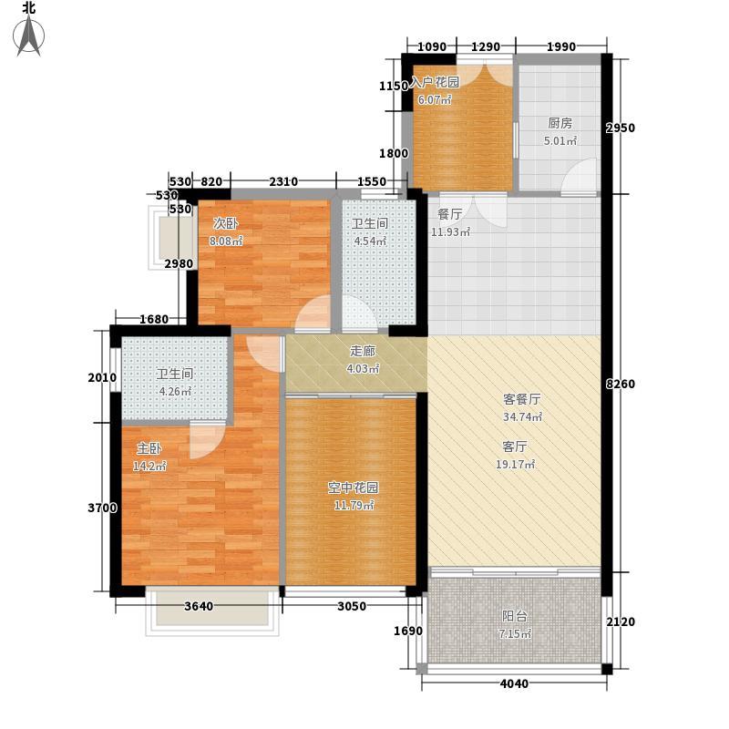 颐和盛世108.00㎡颐和盛世户型图6号楼(�景台)01户型2室2厅2卫1厨户型2室2厅2卫1厨