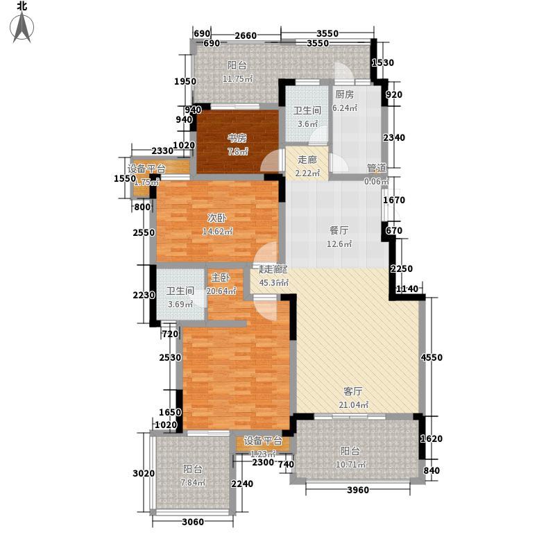 洋丰圣乔维斯118.30㎡一期洋房10号楼标准层B3户型