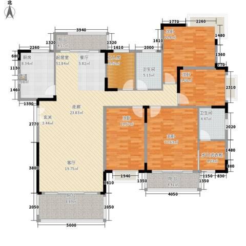 永兴楼4室0厅2卫1厨151.17㎡户型图