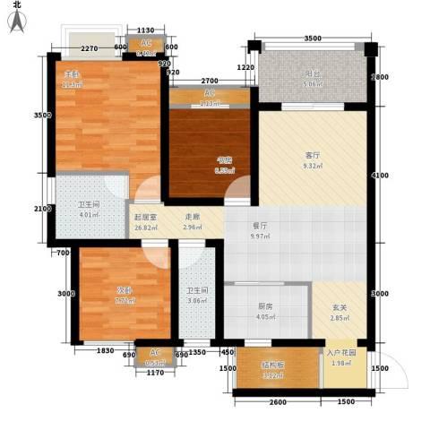 家天下晶品3室0厅2卫1厨108.00㎡户型图