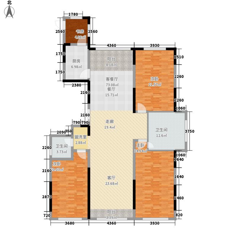 峰度184.00㎡F户型5室2厅