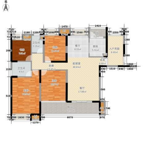 融科东南海二期4室0厅2卫1厨159.00㎡户型图