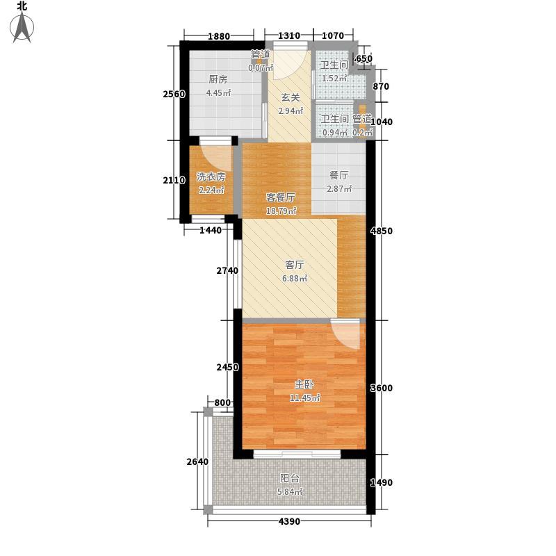 安博南方花园60.14㎡安博南方花园户型图B3户型1室2厅户型1室2厅