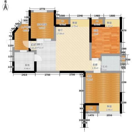 英郡三期2室0厅1卫1厨89.00㎡户型图