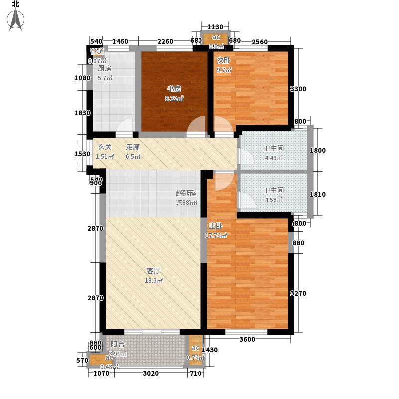 安粮城市广场123.00㎡安粮城市广场户型图7、8#M户型3室2厅2卫1厨户型3室2厅2卫1厨