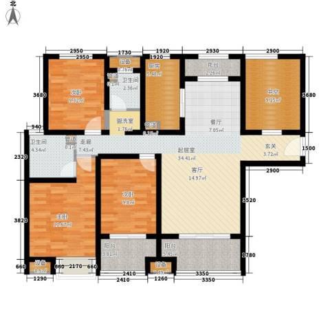 雨润新城3室0厅2卫1厨130.00㎡户型图