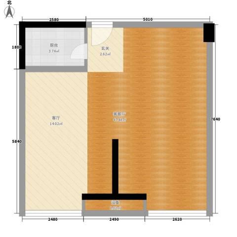 乐颐大厦1厅0卫1厨72.00㎡户型图