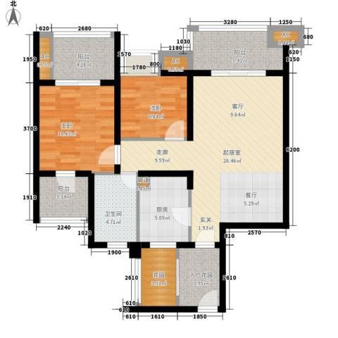 中海国际社区橙郡2室0厅1卫1厨112.00㎡户型图