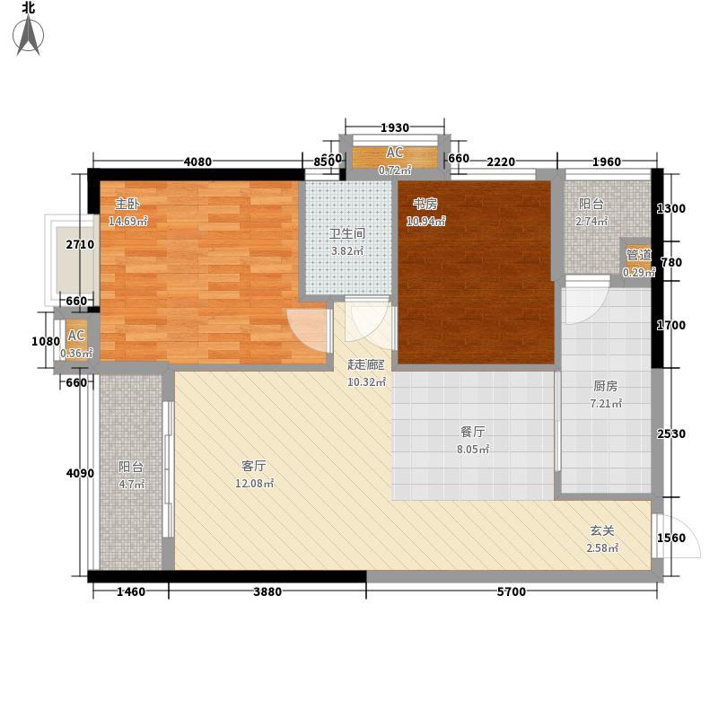 珠光高派89.23㎡05单元2室1面积8923m户型