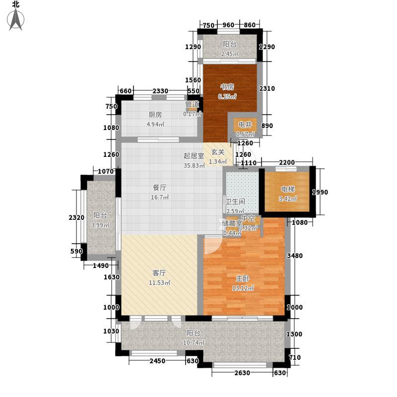 金泰・南燕湾87.00㎡洋房A1-1户型2室2厅1卫1厨