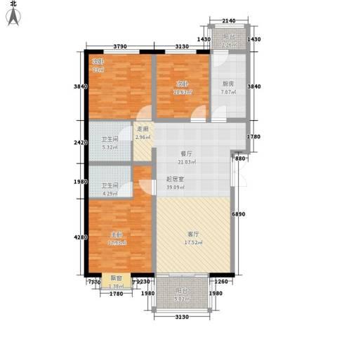 花香小镇3室0厅2卫1厨118.00㎡户型图