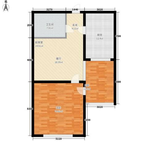 中冶祥腾城市佳园2室0厅1卫1厨90.00㎡户型图