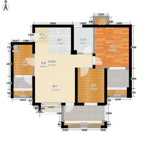 中海国际社区橙郡2室0厅1卫1厨104.00㎡户型图