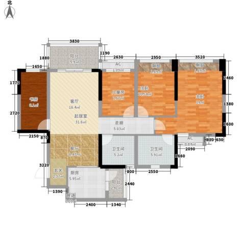 幸福码头4室0厅2卫1厨121.00㎡户型图