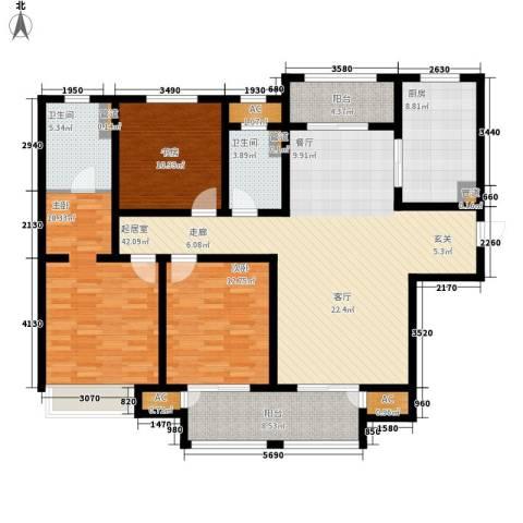 武进吾悦广场3室0厅2卫1厨138.00㎡户型图
