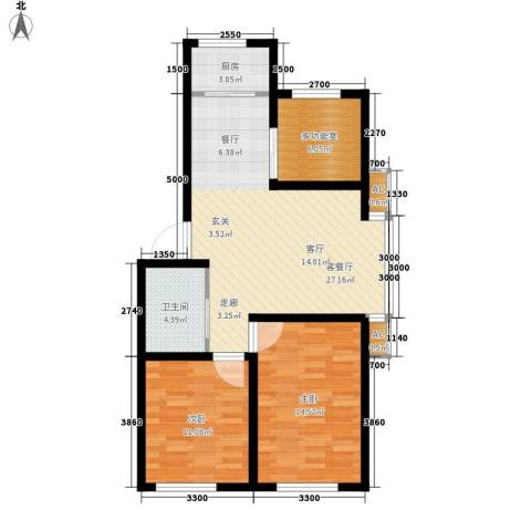筑石居易2室1厅1卫1厨97.00㎡户型图