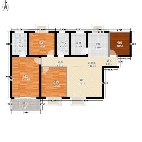 黄河东区4室0厅2卫1厨137.00㎡户型图