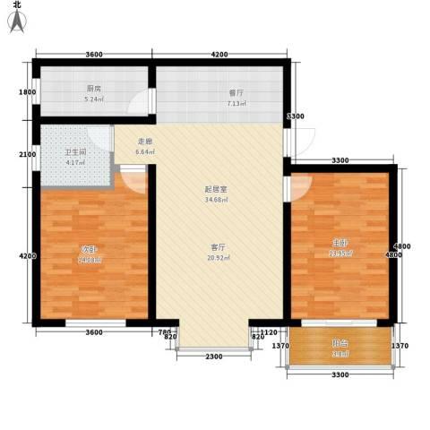 百花家园2室0厅1卫1厨81.00㎡户型图