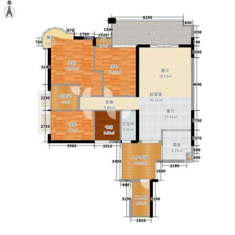 富力千禧花园4室0厅2卫1厨140.00㎡户型图
