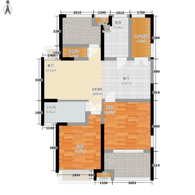 东方天骏・九珑湾15.22㎡3#C户型2室2厅1卫