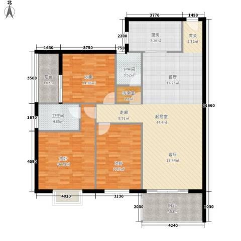 兰蒂斯城3室0厅2卫1厨128.00㎡户型图