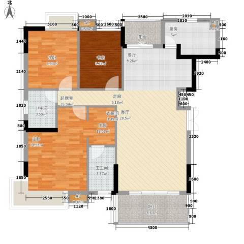 盛世华章3室0厅2卫1厨121.00㎡户型图