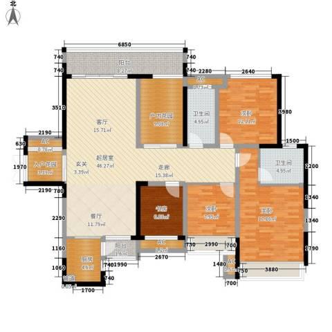 融科东南海二期4室0厅2卫1厨148.00㎡户型图