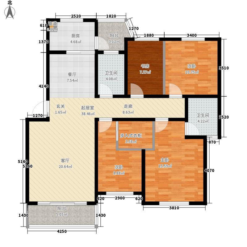 圣地名苑120.00㎡圣地名苑120.00㎡3室2厅1卫1厨户型3室2厅1卫1厨
