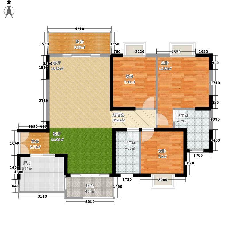 钱隆学府二期118.51㎡5号栋5-1-3、5-2-3户型3室2厅2卫