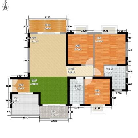 钱隆学府二期3室0厅2卫1厨119.00㎡户型图