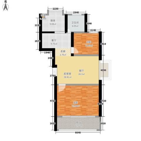宏轩花苑2室0厅1卫1厨105.16㎡户型图