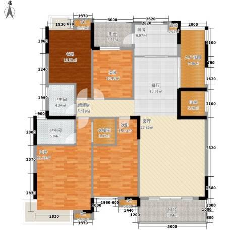 盛世华章4室0厅2卫1厨181.00㎡户型图