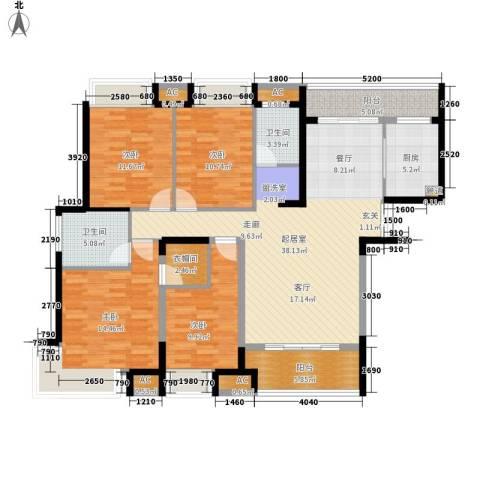 融科东南海二期4室0厅2卫1厨156.00㎡户型图