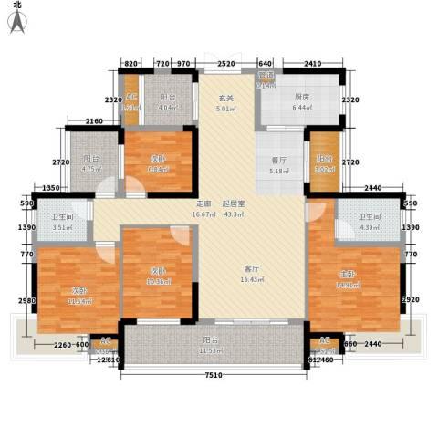 融科东南海二期4室0厅2卫1厨155.00㎡户型图